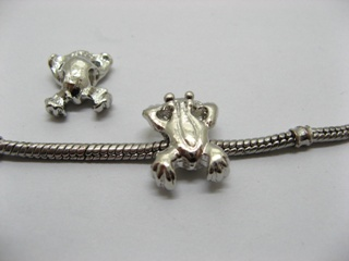 20 Alloy Frog Shape Thread European Beads pa-m44