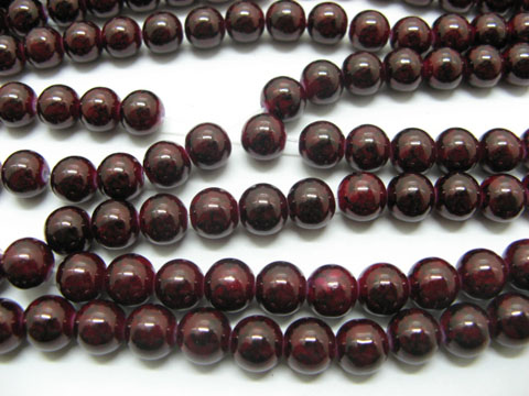 10 Strands Sienna Round Glass Beads 1000beads be-g463