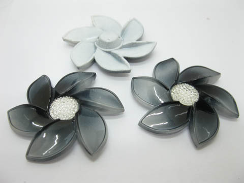 20Pcs Black Flower Hairclip Jewelry Finding Beads 6cm