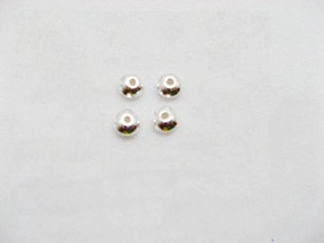 50pcs 925.Sterling silver Flat Round spacer bead 3.4mm