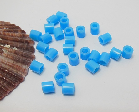 4200Pcs (250g) Craft Hama Beads Pearler Beads 5mm - Skyblue